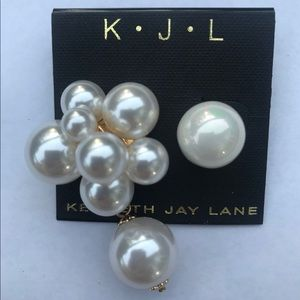 Kenneth Jay Lane Jewelry - Kenneth Jay Lane asymmetry big pearl earrings